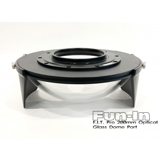 F.I.T. 200mm 光学玻璃 Dome 镜头罩 for Nauticam/Sea&Sea/Subal 单眼防水壳 (加送保护套)