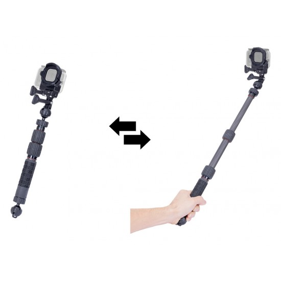 INON 碳纤维伸缩灯臂自拍套装 M for GoPro (370mm to 790mm)