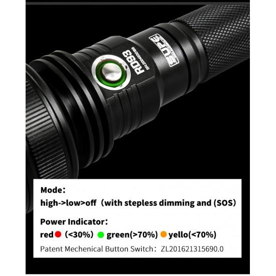 Scubalamp RD93 潜水灯 (3000 流明, 持续 210 分钟)