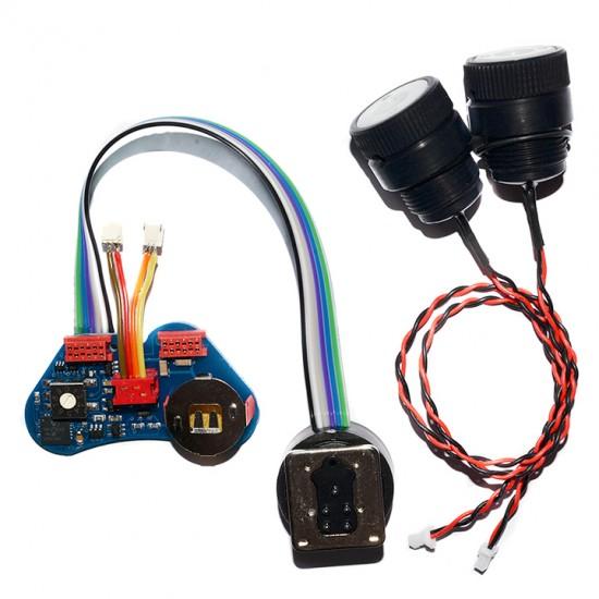 UW Technics TTL 讯号转换器 for Canon for Isotta 防水壳 (包含2个光纤接座与内建高亮度闪灯触发LED)