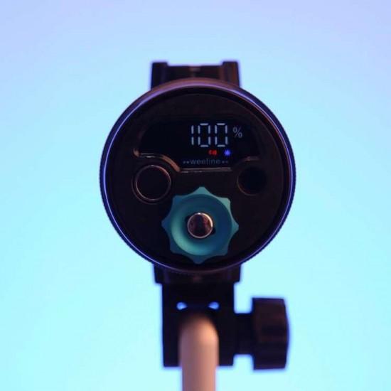 Weefine Smart Focus 6000 流明摄影灯 (有闪灯模式GN16, 包含球座, WFA41 M52聚光罩)