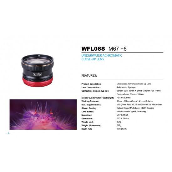 Weefine WFL08S 微距镜 (+6, M67, 设计给单眼60-105mm镜头使用)
